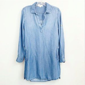 Cloth & Stone Denim Shirt Dress Size XS